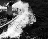 L43719 Man in boat