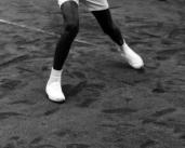 L45214 black tennis player's le