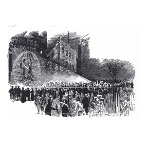 Outdoor projection of Rock of Ages, Melbourne 1894