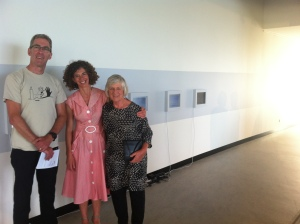 John Macdonald, Louise Curham, and her mother Val at the opening