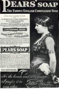 Lillie Langtry in Pears Soap advertisement. nd