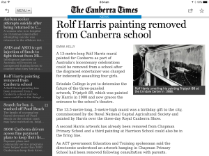 Rolf painting removed from Canberra school