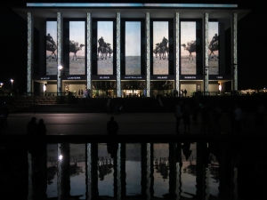 Martyn Jolly NLA projection for Enlighten Canberra