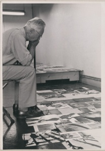 Edward Steichen at work in the Family of Man