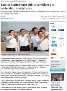The image supplied by Reuters and used without comment by the South China Morning Post.