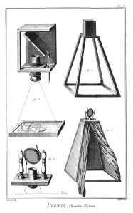 Plate 5, Drawing, Camera Obscura, Encyclopedia, Denis Diderot, 1751-1772