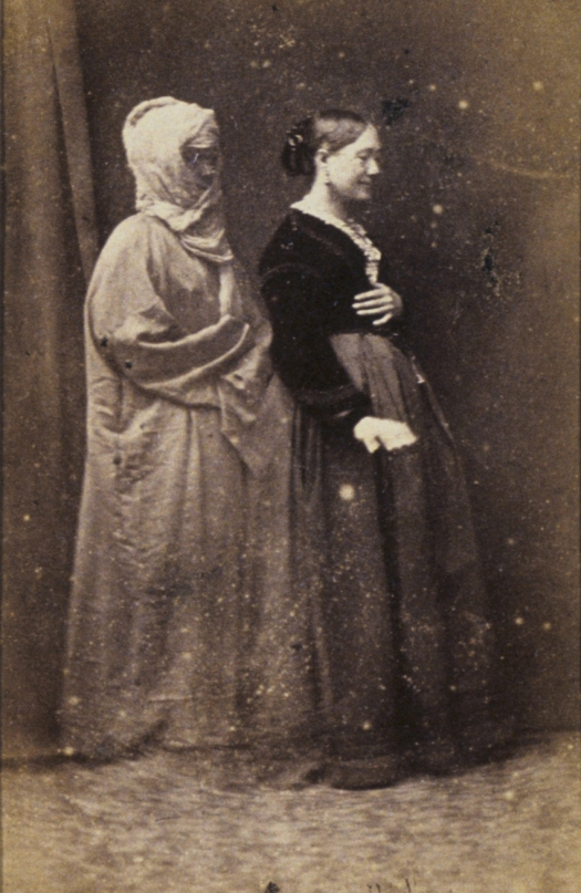 Frederick Hudson, Miss Houghton and spirit of her aunt, c1872, carte-de-visite, National Gallery of Australia, Canberra.