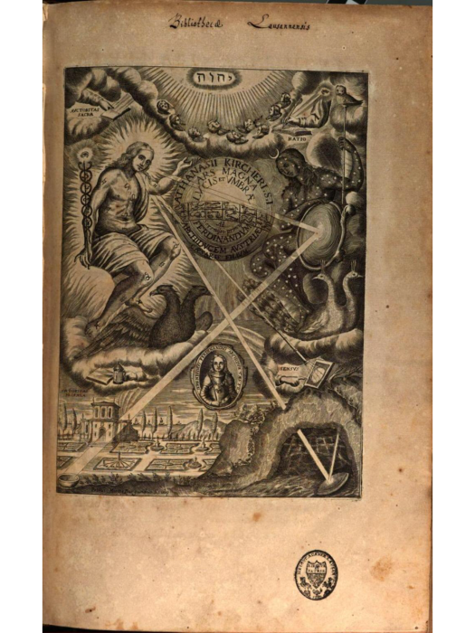 Frontispiece, Anthanasius Kircher, The Great Art of Light an Shadow, 1646