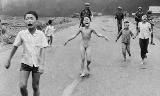 The historic photo from the Vietnam war that was censored. Photograph: Nick Ut/AP